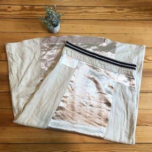 Free people | skirt silver satin size large